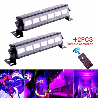U`King 2PCS Black Light 18W UV 6LED Stage Light Bar Party DiscoClub Show Lighting + Remote for Parties Halloween Club MetalHousing Stage Effect Lighting - intl Price Philippines