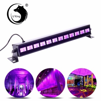 U`King 36W UV Light Black Stage Light Wall Wash Light Stage Effect Lighting for Blacklight Party Florescent Poster Halloween Haunted House DJ Equipment - intl Price Philippines