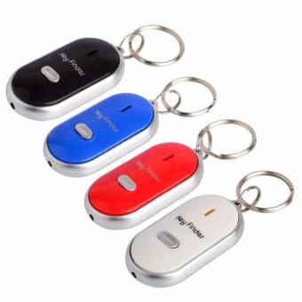 Whistle Key Finder Key Tracker Anti-Lost with LED Light - Blue