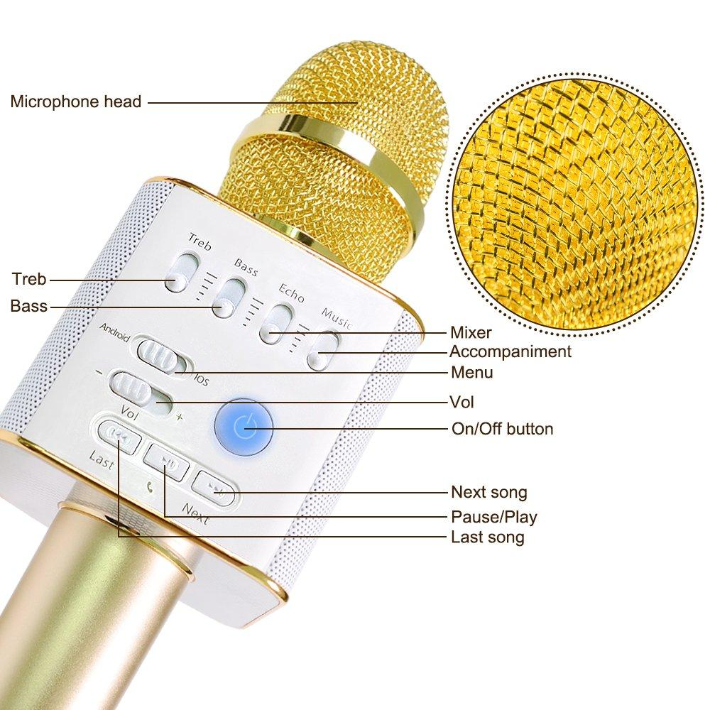 Philippines Wireless Microphone Besteker Portable Mic Karaoke Hifi Speaker Sing A Song Handheldmicrophone Bluetooth Player For Music Playing Mini