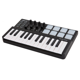 Worlde Panda mini Portable Mini 25-Key USB Keyboard and Drum Pad MIDI Controller Mini 25-Key USB Keyboard