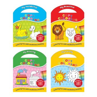 WS Copy Coloring Set of 4 with FILIPINO Translations (Amazing, Beautiful, Lovely, & Wonderful)