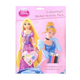 WS Disney Princess Colouring & Sticker Activity Pack