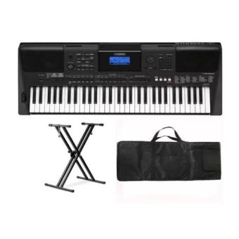 Yamaha PSRE453 61-Key Portable Keyboard with Double X KeyboardStand and Keyboard Bag