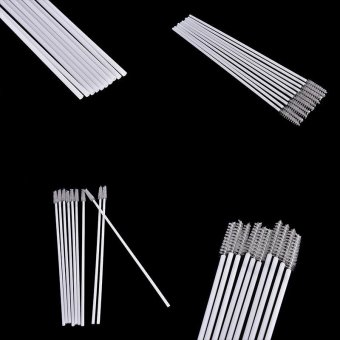 10pcs Stainless Steel Straw Reusable Washable Cleaner CleaningBrush - intl - 3