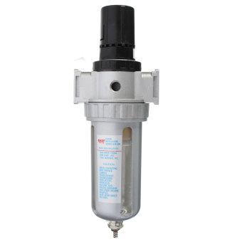 1/4'' BSP Air Filter Separator w/ Regulator Gauge Water Trap For Air Compressor - 3
