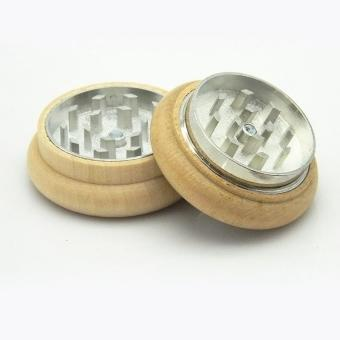 2 Part Metal Tobacco Grinder Wood Herb Crusher Spice Storage Poker- intl