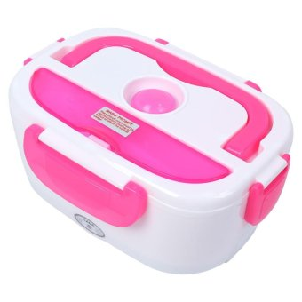 220V Electric Heating Lunch Box Food Warmer Container EU Plug RoseRed - intl - 5