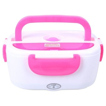 220V Electric Heating Lunch Box Food Warmer Container EU Plug RoseRed - intl - 2