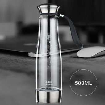 500ML Smart Touch Portable Hydrogen Rich Water Ionizer Bottle Maker Generator Rechargeable Heat-resistant Glass Water Pitcher Cup BPA-free W/ Self-cleaning Function