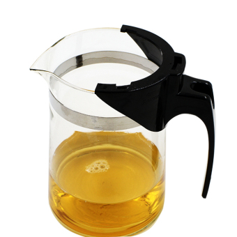 600ml Straight Heat-resistant Glass Teapot Pot Black Tea Mug OolongTea Cup Water Bottle - 2