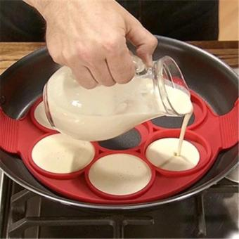 7Holes Silicone Perfect Pancakes Pan Breakfast Maker Egg FlippinFantastic - 3