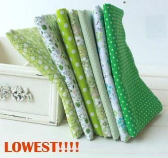 7pcs/set 50cmx50cm Green Cotton Fabric Fat Quarter Bundle Floral Craft Tilda Fabric for Sewing Telas - intl - 4