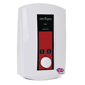 Aerogaz AM85E 8.5Kw 3-Steps Control Water Heater (White/Red)