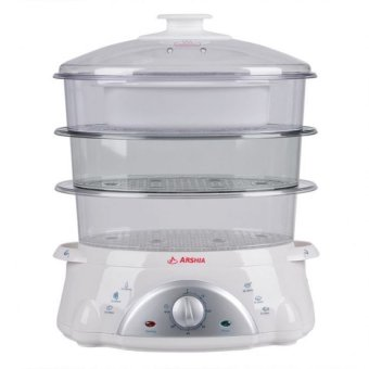 Arshia AS850-6013 Food Steamer 8.5L (White/Clear)