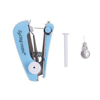 (Buy 1 Get 1 Free) Mini Pocket Sewing Machine Patchwork Overlock DIY Portable Manual Stitch Accessories Cloth Fabric Handy Needlework Tool - intl