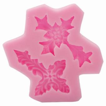 BUYINCOINS Cross Shape Silicone Fondant Mould DIY (Pink)