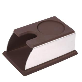 Coffee Tamper Holder Coffee Powder Maker Stand Rack Tool StainlessSteel+Silicone (Coffee) - intl Price Philippines