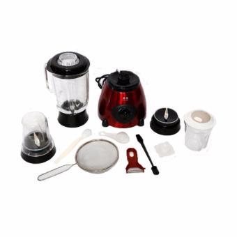 D&D TX-6606 Stainless Multi-Function Glass Jar Blender (Red) - 3