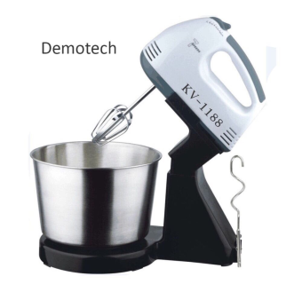 Demotech 7-Speed Stand Mixer with Stainless Bowl (Black) Price Philippines