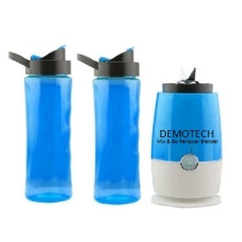 Demotech Mix & Go Personal Blender with 2 Tumbers (Blue) Price Philippines