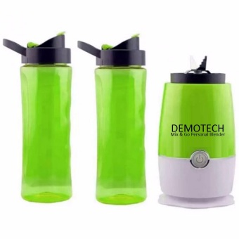 Demotech Mix & Go Personal Blender with 2 Tumbers (Green) Price Philippines