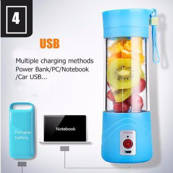 Demotech Portable USB Juice Blender + Powerbank 380mL (Violet) - 3