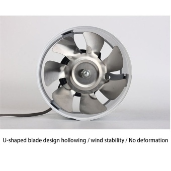 Efficient 6 inch Wall Exhaust Ventilation Fan ( White ) - 5
