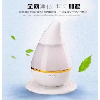 Electric Ultrasound Atomization Diffuser Cool Mist Humidifier(White)