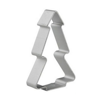 ELENXS Christmas Tree Shaped Buscuit Tools (Silver) - picture 2