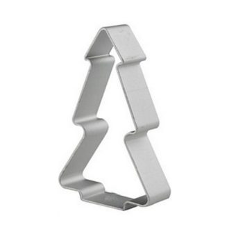 ELENXS Christmas Tree Shaped Buscuit Tools (Silver)