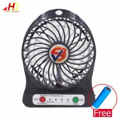 F95b Portable Mini Usb Fan Rechargeable Battery Operated Led Lamp For Indoor Outdoor