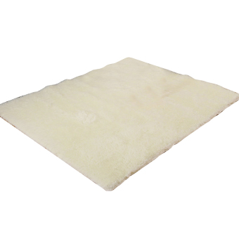 Fluffy Anti-skid Shaggy Area Rug Home Bedroom Floor Mat(Mile white)) - intl