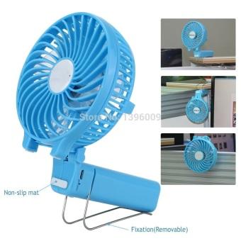 Foldable Hand Fans Battery Operated Rechargeable Handheld Mini Fan Electric Personal Fans Hand Bar Desktop Fan - 2