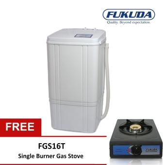 Fukuda FSW62 6.2kg Single Tub Washing Machine with Free FGS16T Single Gas Stove