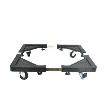 Granmerlen Multi-Functional Appliances Rack Movable Base for Washing Machine/Refrigerator (Black) Set of 2 - picture 2