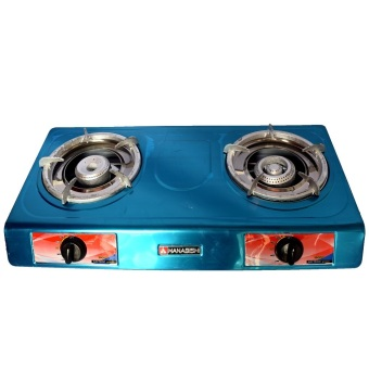 Hanabishi G-8010 Double Burner Gas Stove (BLUE)