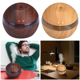 Hanyu Ultrasonic Aroma Oil Diffuser Air Humidifier Purifier AirCleaner(Dark wood color) - intl - 2
