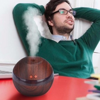 Hanyu Ultrasonic Aroma Oil Diffuser Air Humidifier Purifier AirCleaner(Dark wood color) - intl