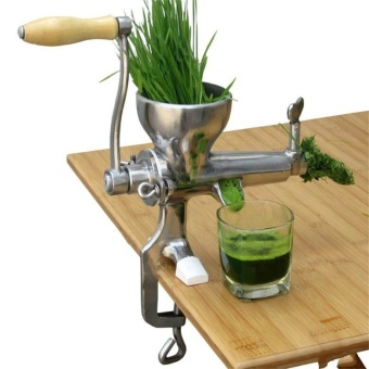 High Quality Hand Manual Wheatgrass Juicer Heavy Duty StainlessSteel Leafy Green Juicer DIY Extractor Tool (Silver) - intl - 2