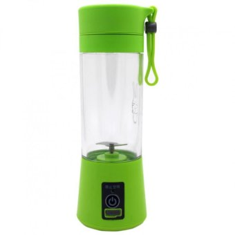 HM-03 Portable and Rechargeable Battery Juice Blender 380ml (Green)with Self Stirring Coffee Mug (Black) - 4