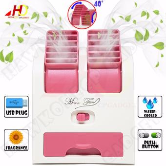 HY168 Mini Fan 2.5W Air Conditioning for Summer Cooling With USBPlug (Pink)