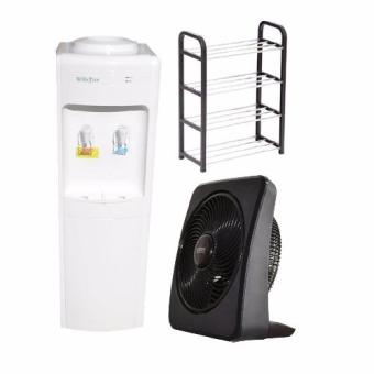 "RWD-100 Compressor type 100cm Commercial Water Dispenser, R18 4layer Shoe Rack and  Union Box Fan UGDS-BF1201 12"" Designer Series Floor Circulator Price Philippines"