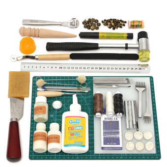 Harga Tools Leather Craft Tool Kit Leather Hand Sewing Tool Set Professional Product - Intl