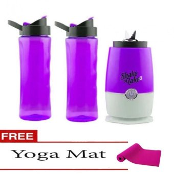 Shake N Take 3 Blender 16oz (Violet) with Free Yoga Mat (Color May Vary) Price Philippines