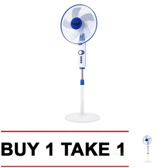"Ace 16"" 1615 Round Base Auto Off Stand Fan Buy 1 Take 1 (White) Price Philippines"