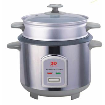 Harga 3D RC-50S Stainless Steel Body Rice Cooker