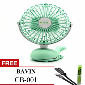 BAVIN Whale Portable Fan (GREEN) with free BAVIN CB-001 Price Philippines