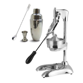 Raffles CJ-288 Commercial Citrus Lemon Manual Juicer Squeezer (Silver) with Cocktail Shaker Set S/S Price Philippines