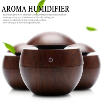 Wooden Grain Aromatherapy Diffuser + Air Humidifier Usb Led Lightultrasonic Cool Mist Aromas Humidifier Air Diffusers Fragrances Foroffice Home Car Usdd - intl Price Philippines